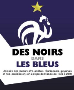 Affiche de l'exposition des Noirs dans les Bleus